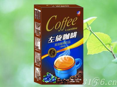左旋咖啡蓝莓味纸盒