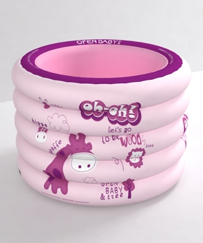 欧培长径鹿圆形游泳池粉色