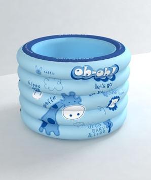 欧培深林探险圆形游泳池蓝色
